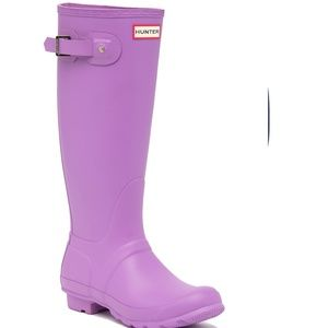 HUNTER Original Tall Waterproof Rain Boot Thistle